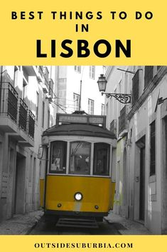 "3-day Itinerary & Best things to do in Lisbon Known as ""The City of Seven Hills,"" Lisbon is charming, colorful and filled with mosaic tiled buildings stacked up on cobblestone streets. Discovering all the fun things to do – riding the old cable cars, viewpoints and listening to the sound of Fado in Lisbon #lisbonHoliday #LisbonThingstodo #PortugalHoliday #FamilyTravel #OutsideSuburbiaTravel"
