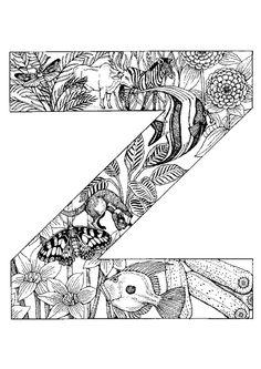 Tu feras un voyage dans la jungle en coloriant la dernière lettre de l'alphabet