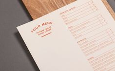 Dr Morse brand identity and menu designed by Seesaw. Collateral Design, Stationery Design, Branding Design, Food Branding, Typography Design, Restaurant Identity, Restaurant Menu Design, Print Layout, Layout Design