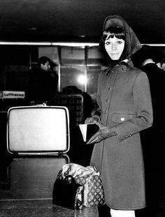 Audrey Hepburn and her Louis Vuitton Speedy 25