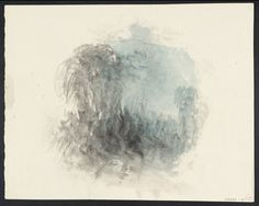 Joseph Mallord William Turner 'Vignette Study of Trees and Crowded Figures; for Campbell's 'Poetical Works'', c.1835–6