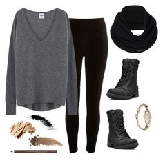 """""""gray.&.gold"""" by jmkennedy ❤ liked on Polyvore featuring River Island, prAna, Cobb Hill, Chantecaille, Bobbi Brown Cosmetics, Gucci and Lucky Brand"""