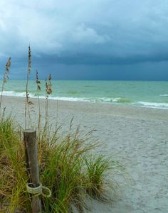 Even during stormy days, the view on Captiva Island, Florida is still stunning with all of its shades of blue. More info at: www.tween-waters.com