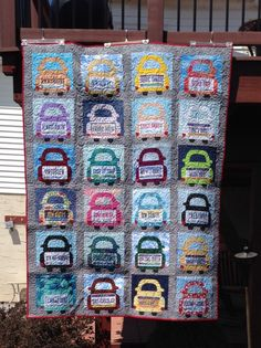 Row by row license plates Quilting Tips, Quilting Projects, Quilting Designs, License Plate Designs, License Plates, Quilt Kits, Quilt Blocks, Row By Row 2016, Row By Row Experience