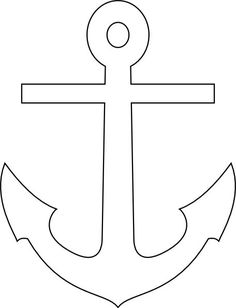 coloring pages - Lux Anchor Black Felt Crafts, Diy And Crafts, Crafts For Kids, Arts And Crafts, Paper Crafts, Applique Patterns, Quilt Patterns, Anchor Stencil, Applique Templates
