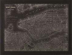 New York City Map by Lauren Rader Framed Graphic Art