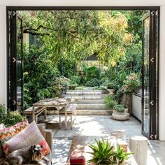 Garden atrium House Plans Beautiful Stunning Patio and Garden with Bifold Doors Opening Out You – modern courtyard house plans Garden Oasis, Terrace Garden, Landscape Design Plans, Landscape Edging, House Landscape, Landscape Art, Landscape Paintings, Landscape Photography, Green Landscape