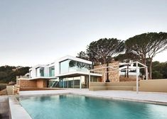 modernist villa costa brava - pool