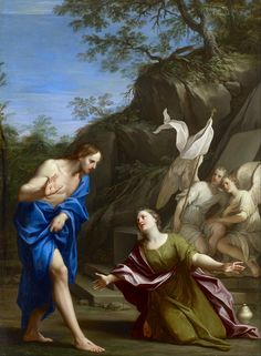 Marcantonio Franceschini - Noli Me Tangere - 1700 ca. - Museum of Fine Arts, Houston Noli Me Tangere, Catholic Art, Religious Art, Classic Paintings, Beautiful Paintings, Juan Pablo Ii, Google Art Project, Christian Religions, Mary Magdalene