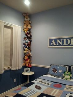 Beautiful Easy Way To Store Stuffed Animals. All I Used Was A File Ring, Rope. Bedroom  KidsBaby BedroomKids RoomsStoring ...
