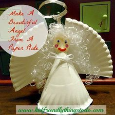 Make A Paper Plate Angel For A Tree Topper!