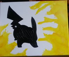 Melted Crayon Art: Pikachu