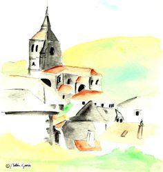 Vista de Isaba, Navarra (© Belén García) Abstract, Artwork, Painting, Sketches, Illustrations, Work Of Art, Summary, Auguste Rodin Artwork, Painting Art
