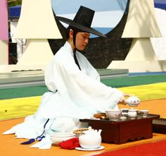 FANTASIA BUCHEON : 茶예술 공연 '다례, 다악, 다무의 향연' Korean Tea, Tea Ceremony, Panama Hat, Hats, Fantasy, Hat, Hipster Hat, Panama