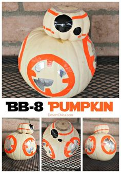 Is the force strong in your family? All Star Wars fans should make their very own BB-8 pumpkin this fall! via @DesertChica