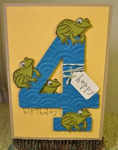 """""""Hoppy Birthday"""" A1 size card by craftkrazy - Cards and Paper Crafts at Splitcoaststampers"""