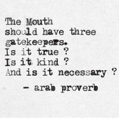 The mouth's gatekeepers
