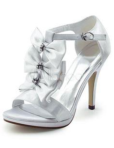 #Milanoo.com Ltd          #Dress Sandals            #Sweet #White #Satin #Decoration #Women's #Spike #High #Heel #Dress #Sandals  Sweet White Satin Bow Decoration Women's Spike High Heel Dress Sandals                                  http://www.snaproduct.com/product.aspx?PID=5684620
