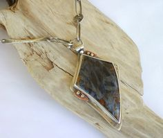 Necklace Sterling Silver  Pietersite Chatoyant by rmddesigns,