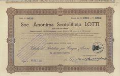 SCATOLIFICIO LOTTI SOC. AN. - #scripomarket #scriposigns #scripofilia #scripophily #finanza #finance #collezionismo #collectibles #arte #art #scripoart #scripoarte #borsa #stock #azioni #bonds #obbligazioni