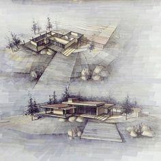 Interesting Find A Career In Architecture Ideas. Admirable Find A Career In Architecture Ideas. Architecture Graphics, Architecture Board, Architecture Drawings, Modern Architecture, Presentation Board Design, Building Sketch, Planer, Landscape Design, Urban