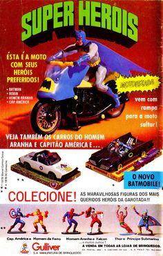 """A coleção de miniaturas """"Super Heróis Gulliver"""" foi produzida no Brasil no começo dos anos 70 até meados dos anos 80. Segundo o blog Super Heróis Br, as miniaturas eram feitas de plásti…"""