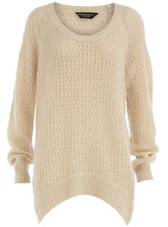Dorothy Perkins  Ivory open stitch jumper — this would be cute with skinny jeans and a scarf for fall.