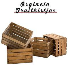 ORGINELE FRUITKISTJES(Te gebruiken als Opbergkrat, nachtkastje of klein tafeltje)