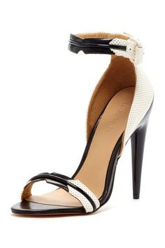 B & W High Heel Sandal