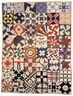 """""""Aunt Amy's Sampler Quilt,"""" circa 1898, from Quilts from Aunt Amy"""