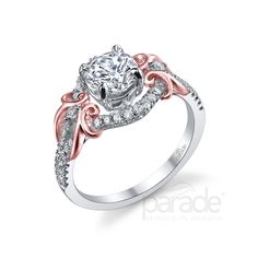 R2954 with 18k rose gold accents: from the Lyria Bridal Collection