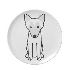 Belgian Malinois Dog Cartoon Plate