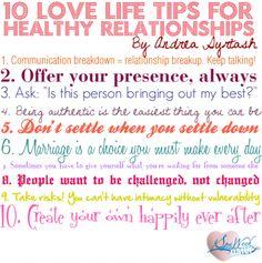 Relationship tips :-)