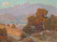 Orrin White (1883-1969), nationally acclaimed Southern CA landscape artist, painted this scene by his home in Pasadena.