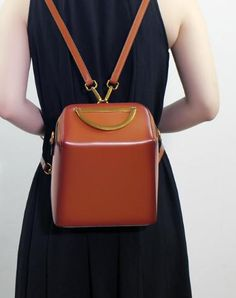 fb73e537e80f Genuine Leather backpack bag shoulder bag black brown for women leather  crossbody bag Leather Backpack Purse