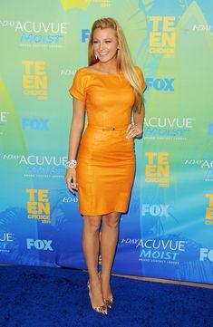 Blake Lively Leather Dress - Blake Lively Leather Dress Looks - StyleBistro