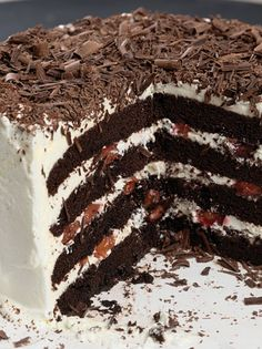 Black Forest Cake: step-by-step directions and tips.
