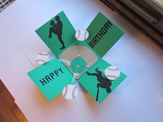 Baseball Birthday Exploding Card by jax46 - Cards and Paper Crafts at Splitcoaststampers