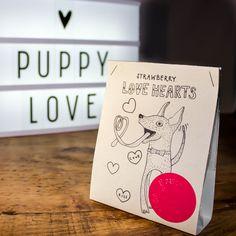 Artisanal dog treats from Fetch & Follow. Strawberry Hearts, Natural Dog Treats, Healthy Dog Treats, Puppy Love, Artisan, Puppies, Dogs, Cubs, Doggies