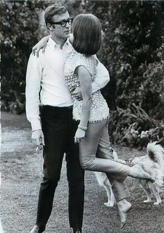 Michael Caine + Natalie Wood by Bill Ray -- 1966. (Caine said in his autobiography that Natalie Wood was one of the women he met and was encouraged to date during his early days in Hollywood)