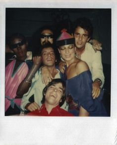 Polaroid of Grace Jones and Steve Rubell by Andy Warhol at Studio 54, September, 1977