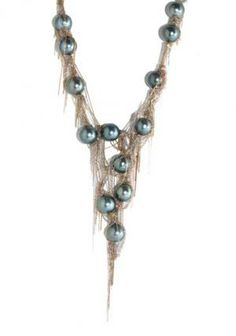 Martin Bernstein Tahitian Pearl V Necklace | Oster Jewelers, Denver Colorado