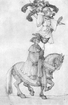 Artist: Dürer, Albrecht, Title: Der große Triumphwagen, Detail: Die französische Trophäe, Date: 1518