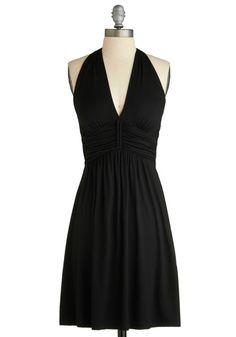 Black halter dress, $42.99