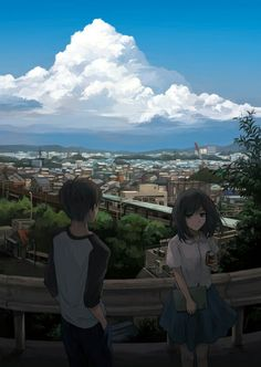 If you know this manga, you are man of culture. [The title is in the first tag] & Manga Manga Couple, Anime Love Couple, Anime Art Girl, Manga Art, Anime Triste, Scenery Background, Anime Scenery Wallpaper, Anime Couples Drawings, Aesthetic Anime