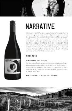 Narrative | 2018 Red Blend from Okanagan Crush Pad Red Wine, Alcoholic Drinks, Conditioner, Notes, Report Cards, Liquor Drinks, Notebook, Alcoholic Beverages, Liquor