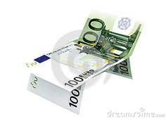 Концепция евро денег в от lounger с белой предпосылкой