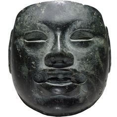 Olmec stone mask Mexico, about 900-400 BC British Museum - Highlight image