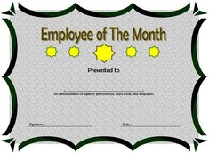 Employee Of The Quarter Certificate Template from i.pinimg.com