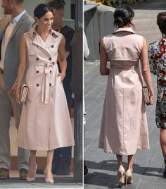 Estilo Meghan Markle, Meghan Markle Style, Vogue Fashion, Royal Fashion, Outfit Vestidos, Trench Coat Outfit, Ankara Gown Styles, Vestido Casual, Coats For Women